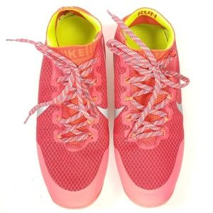 womens nike free hyperfeel run trail running shoes rose red